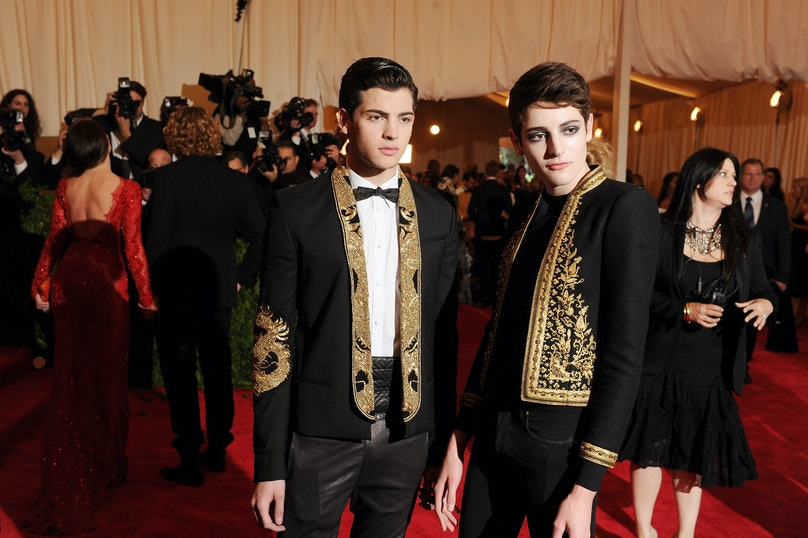 Peter Brant II and Harry Brant at the Met Gala