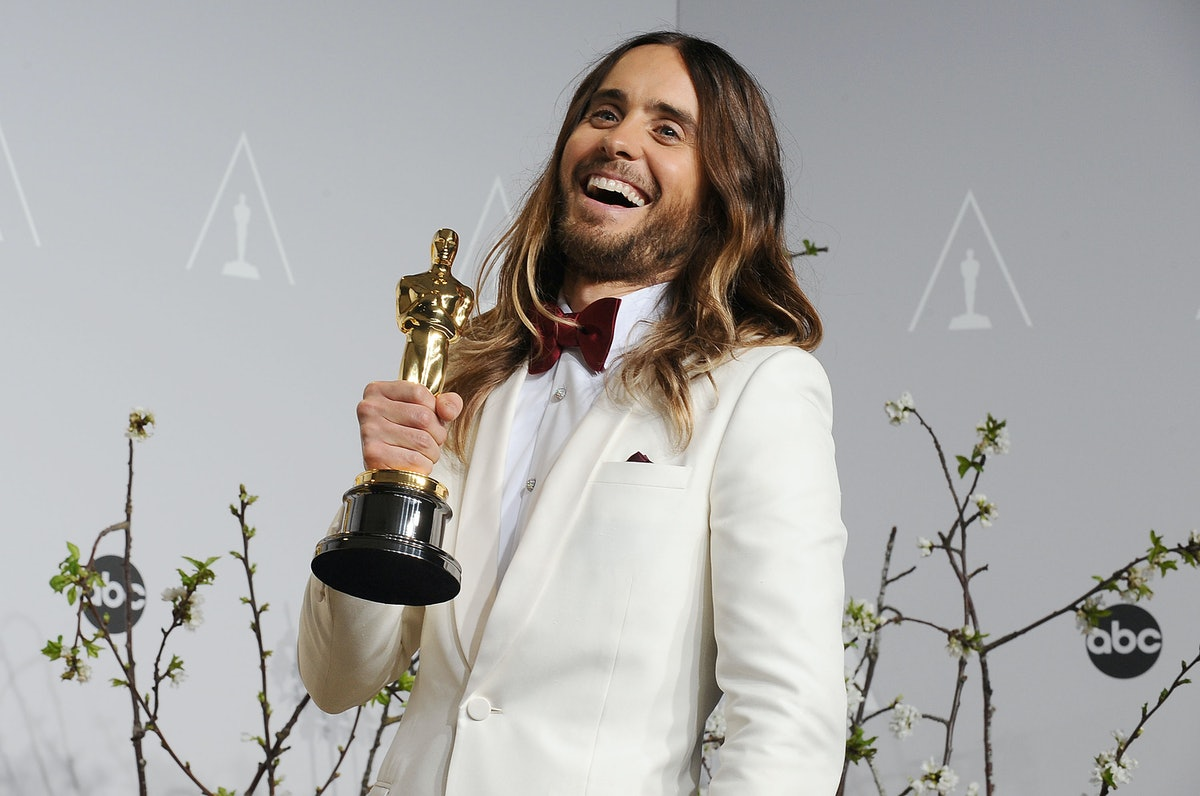 Jared Leto with his Oscar.