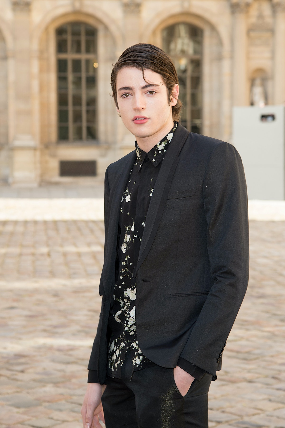 Harry Brant wearing black