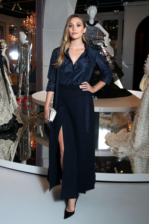 Elizabeth Olsen in Dior.