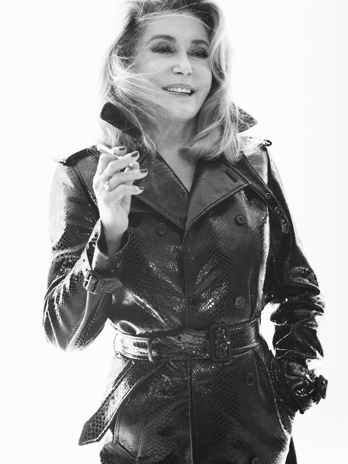 Catherine Deneuve smiling