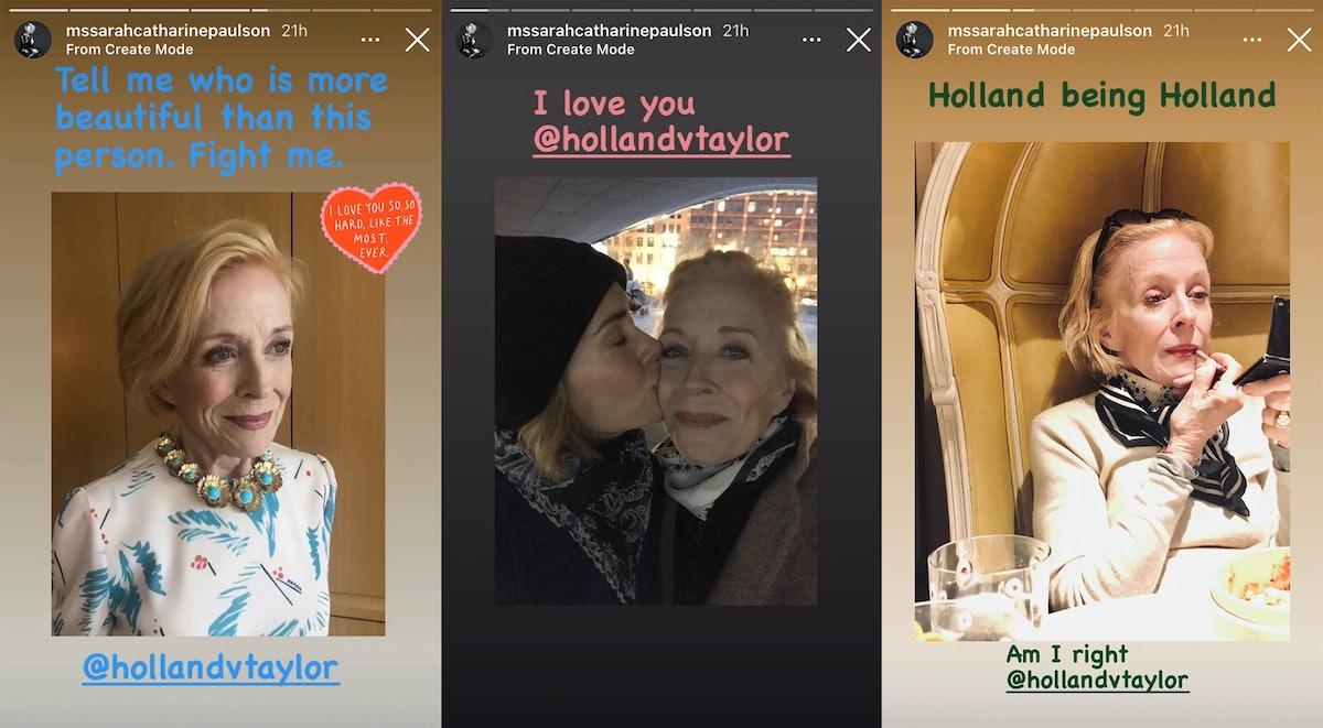 Sarah Paulson gushing about Holland Taylor