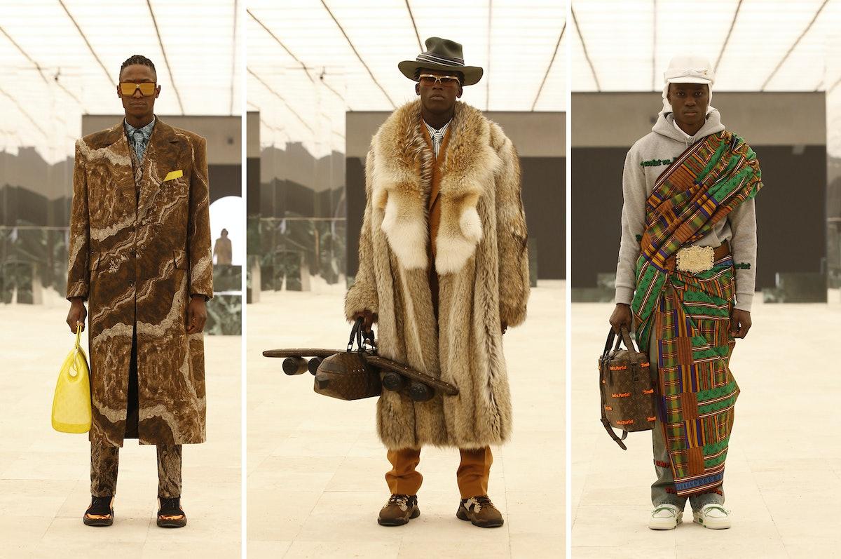Three Louis Vuitton models