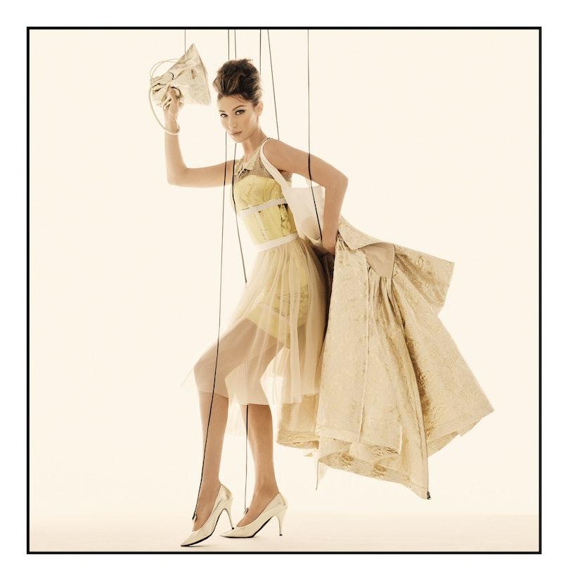 Bella Hadid in a Moschino campaign