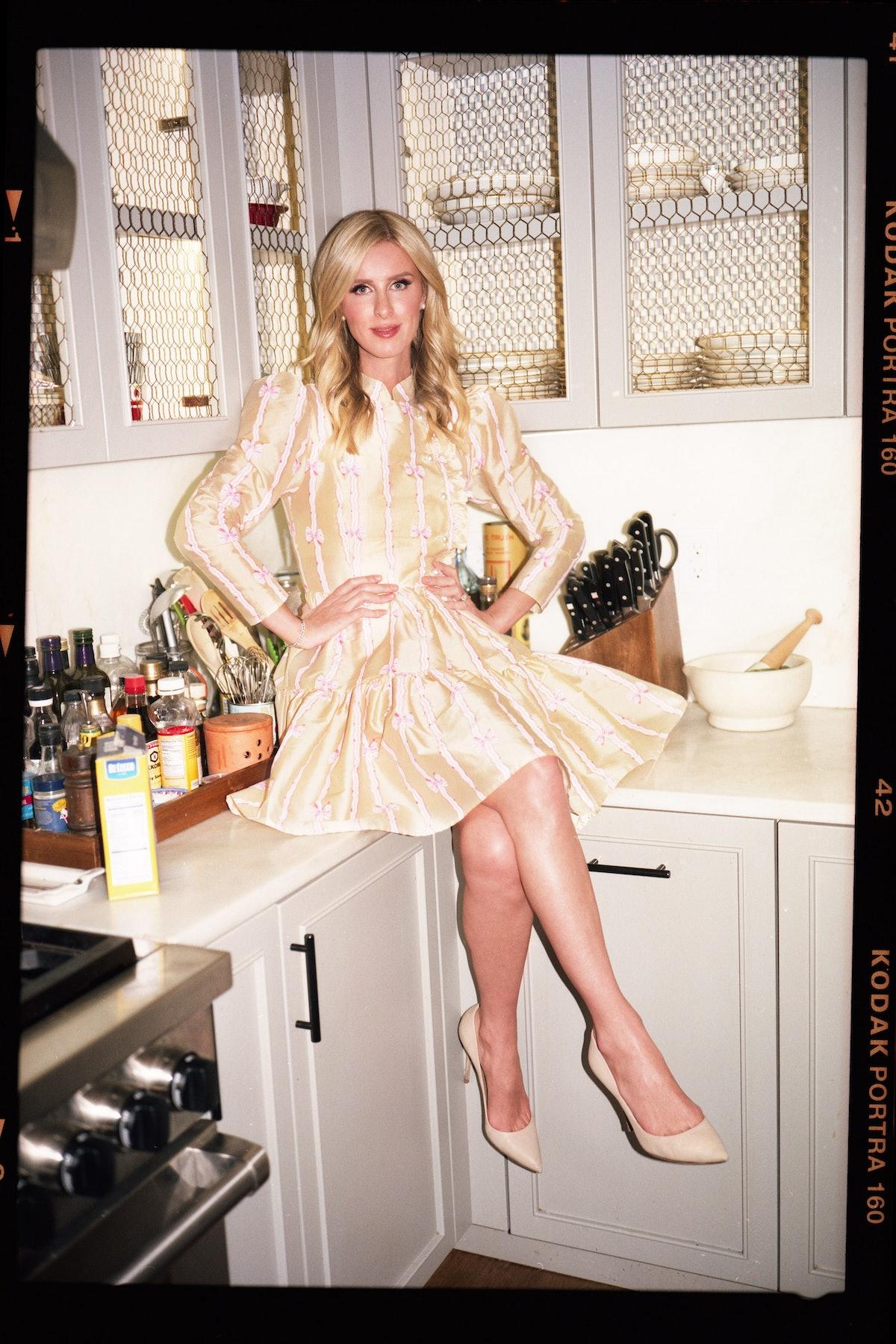 Nicky Hilton in a Batsheva look book