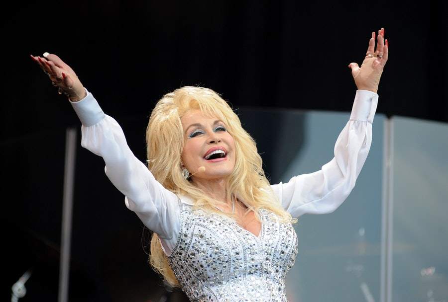 Dolly Parton rejoices.