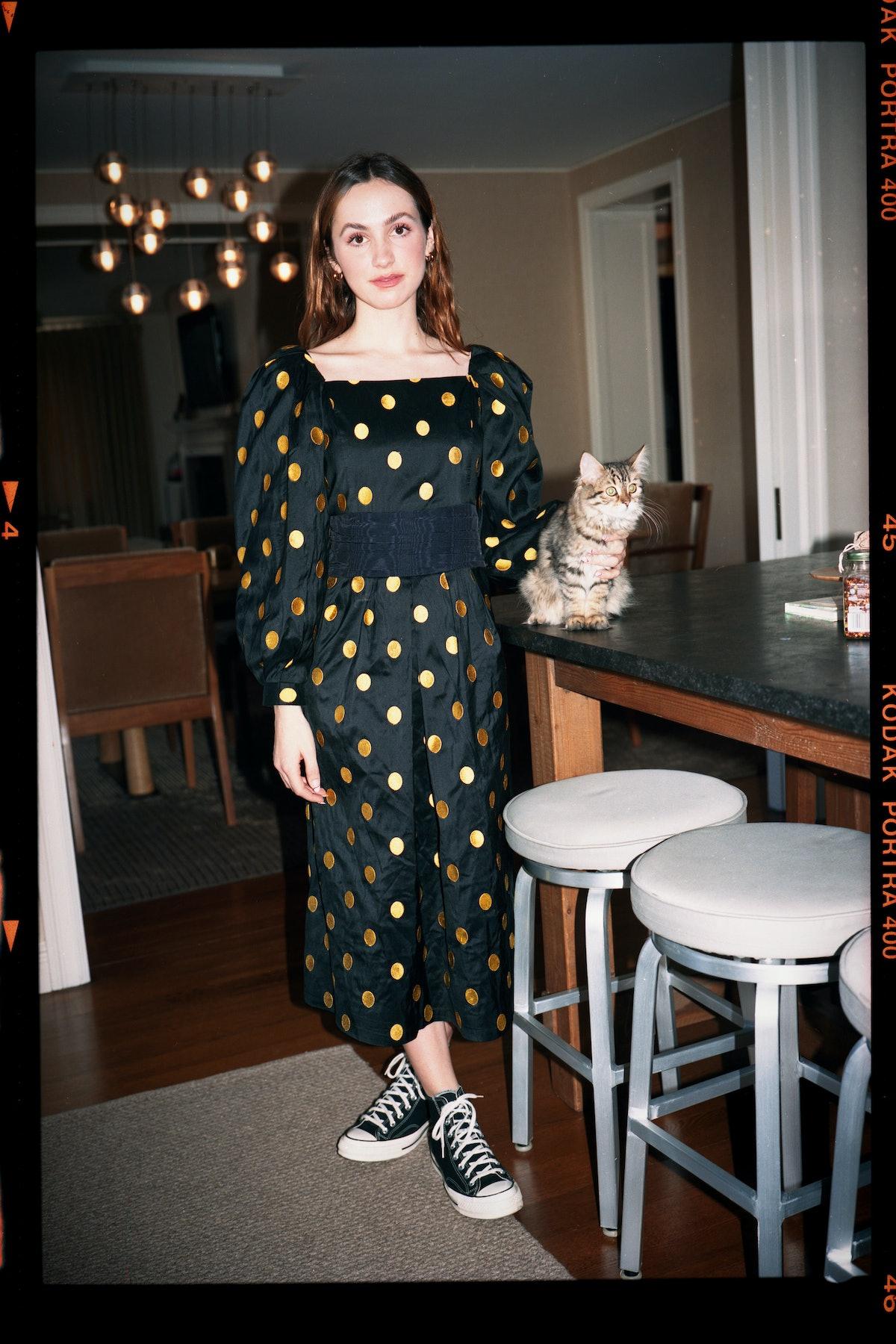 Maude Apatow in the fall 2021 Batsheva look book
