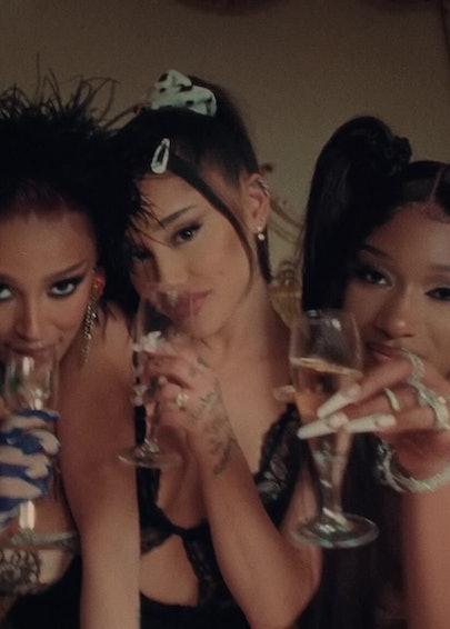 Doja Cat, Ariana Grande and Megan thee Stallion.