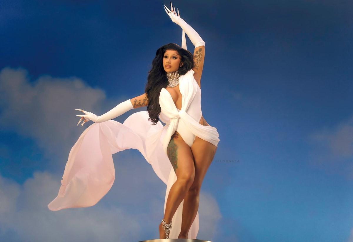 "Cardi B in her ""Up"" music video."