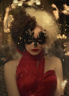 Emma Stone in an on fire dress.