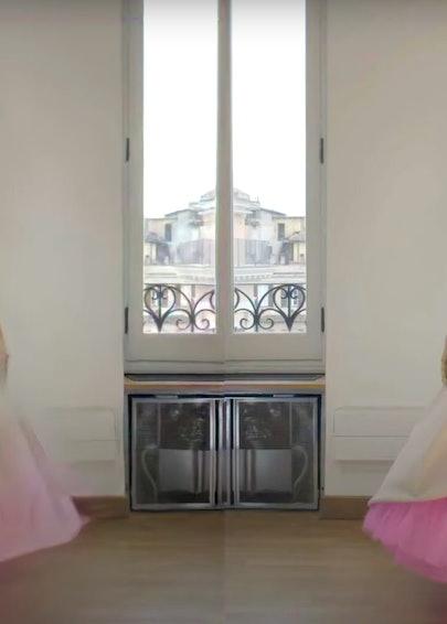 A still from a Valentino video