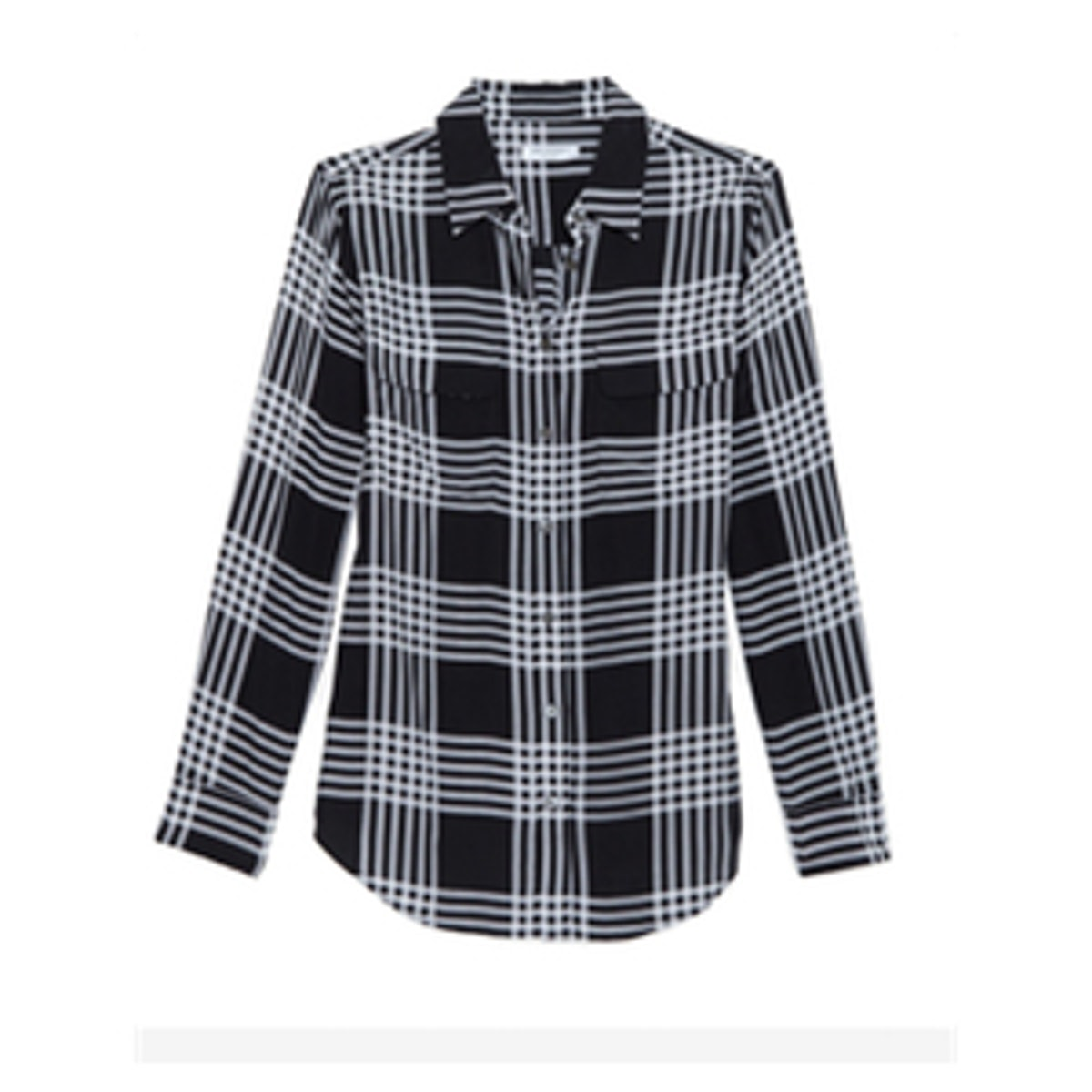 Ghost Plaid Blouse