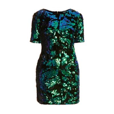 Sequin Velvet Dress