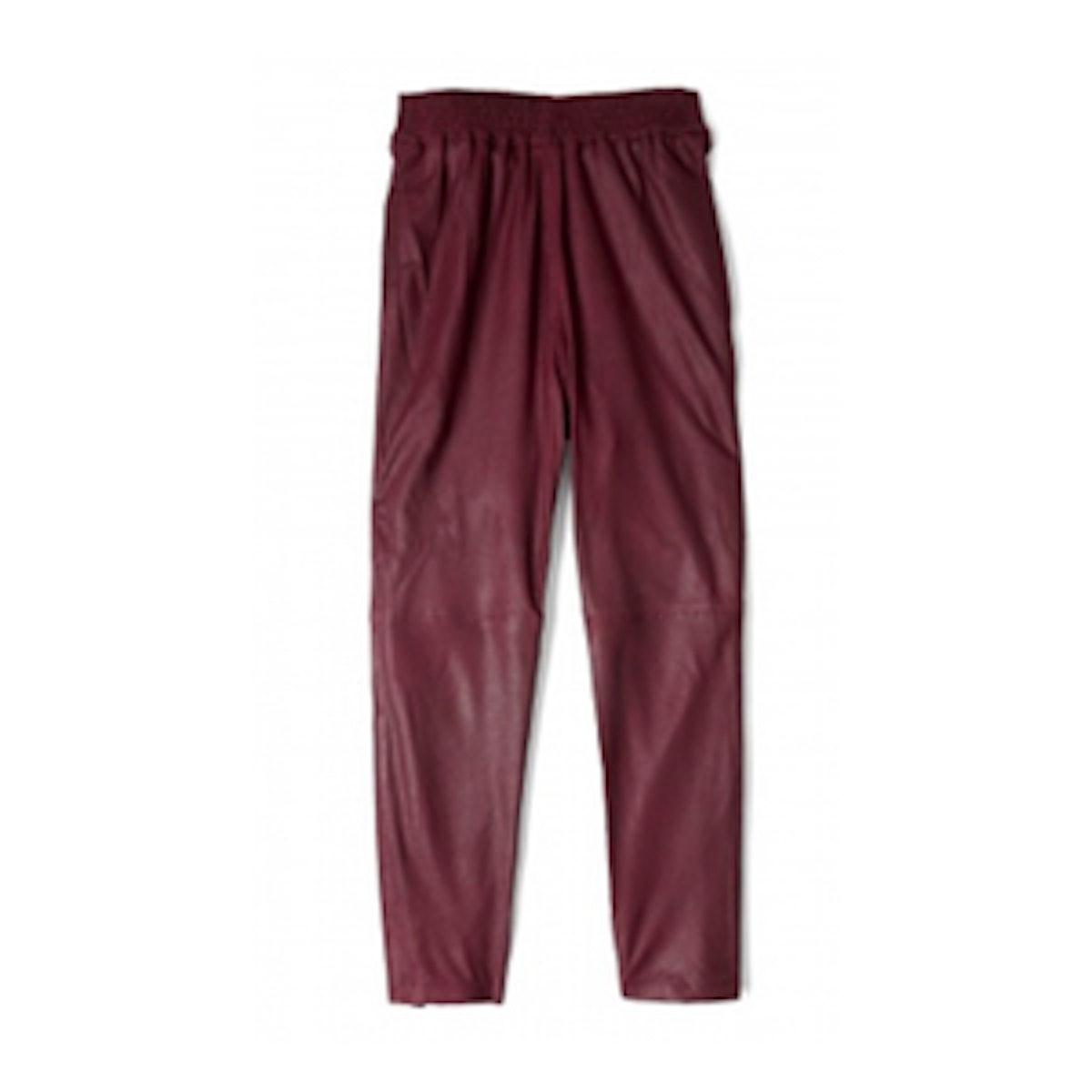 Cordovan Leather Trouser