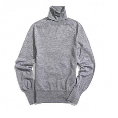 Fine Gauge Polo Neck Sweater