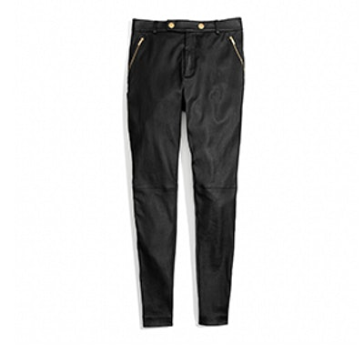 Leather High Waisted Trouser