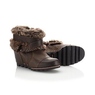 Joan of Arctic Wedge Ankle Bootie