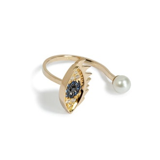Eye and Pearl Ring