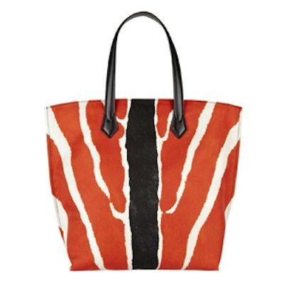 Zebra Print Nylon Tote
