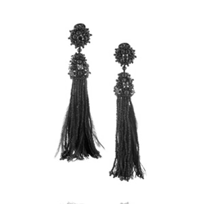 Tasseled Clip Earrings