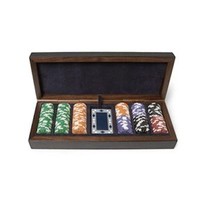 Leather Bound Poker Set