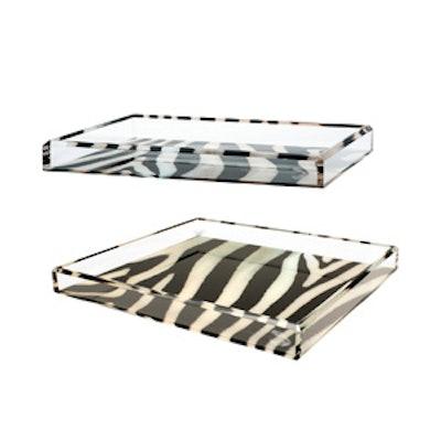 Acrylic Zebra Printed Tray