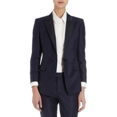 Peak Lapel One-Button Jacket