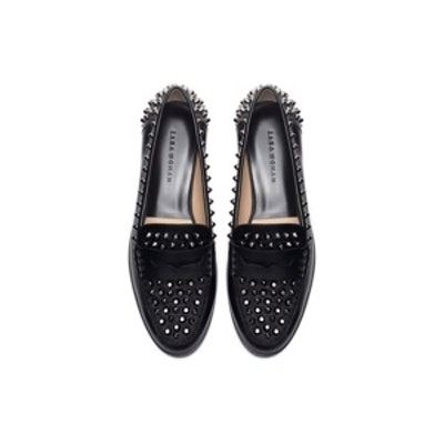 Studded Leather Moccasins