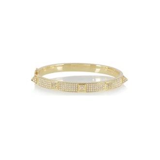 Diamond & Gold Spike Bracelet