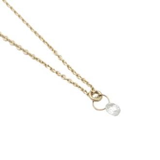 Single Diamond Briolette Necklace