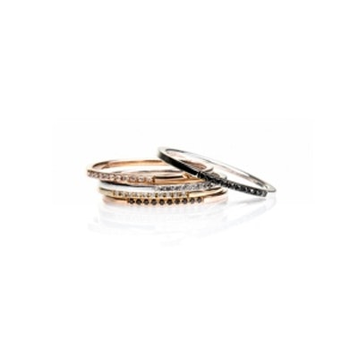 Segment Diamond Stack Rings