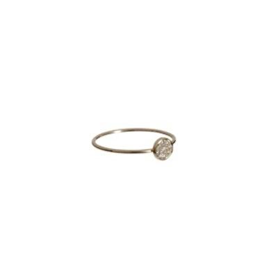 Gold & Diamond Circle Ring