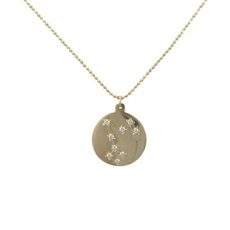 Diamond & Gold Zodiac Pendant
