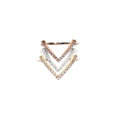 Victory Gold & Diamond Top Finger Rings
