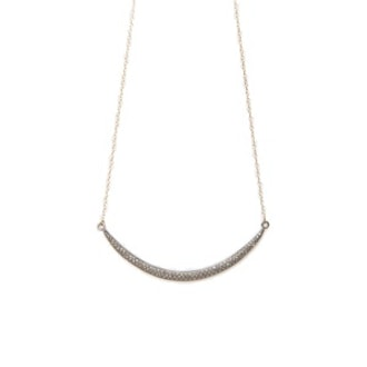 Champagne Diamond Moon Necklace