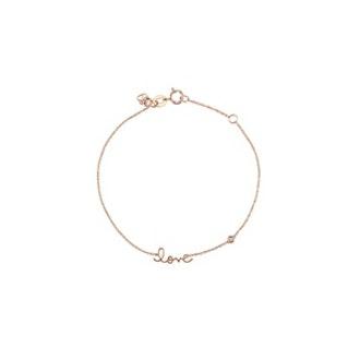 Rose Gold Bracelet With Bezel Set Diamond