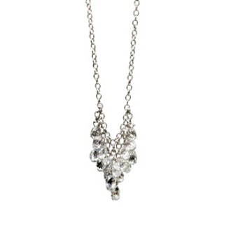 Diamond Briolette & Platinum Necklace