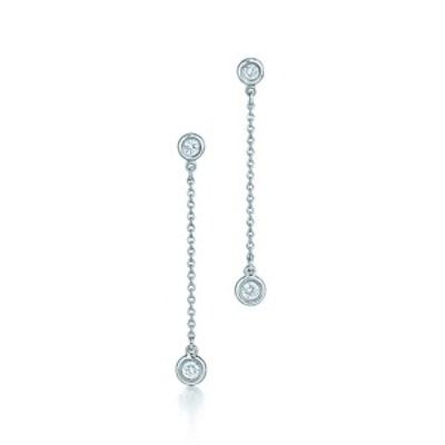 Sterling Silver Diamonds By The Yard Drop Earrings