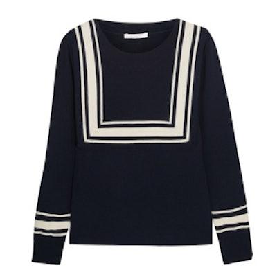 Bib-Detailed Wool Sweater