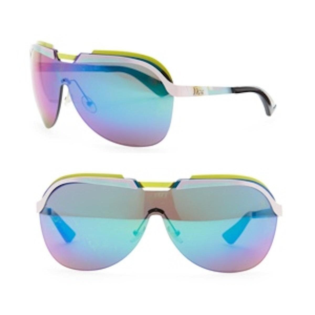 Multicolor-Bar Shield Sunglasses