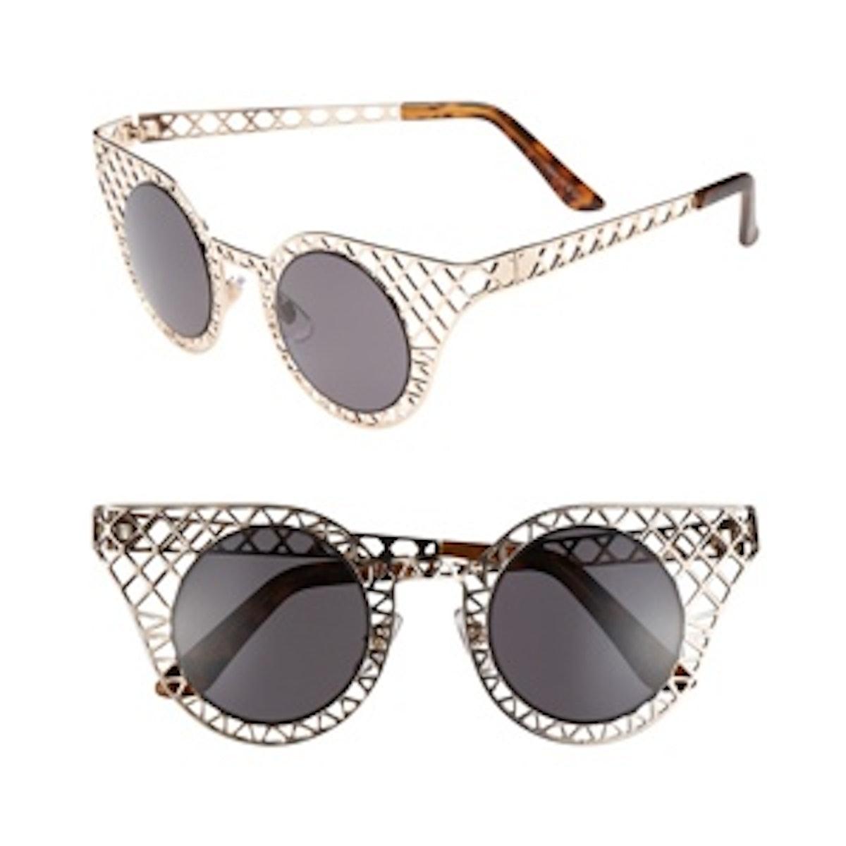 Gold Lattice Sunglasses