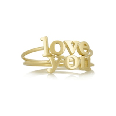 'Love You' 18-Karat Gold Rings