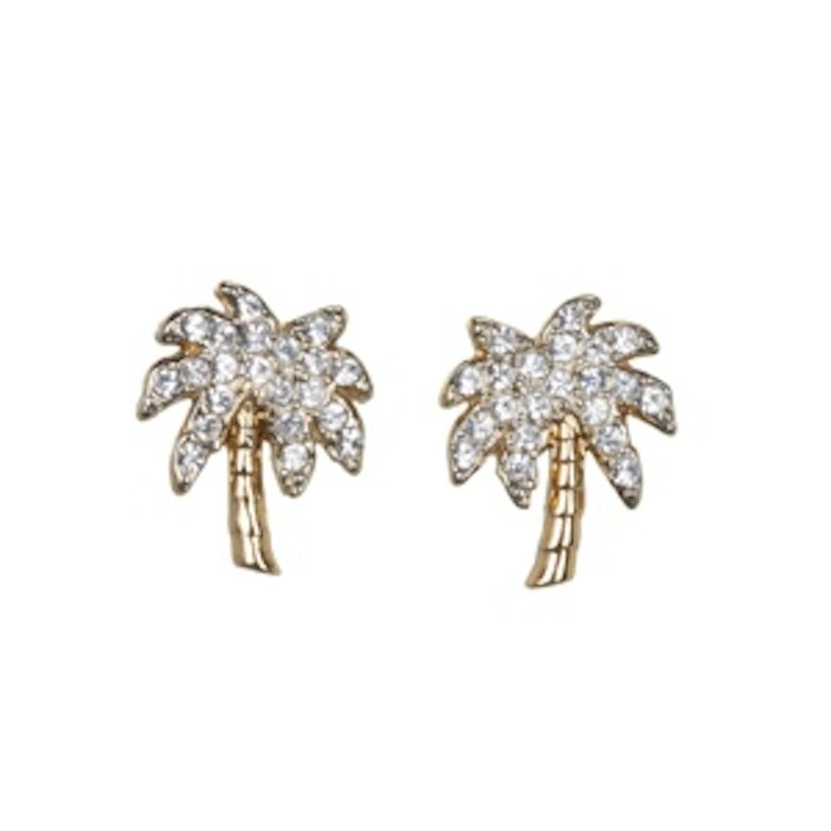 Palm Tree Stud Earrings