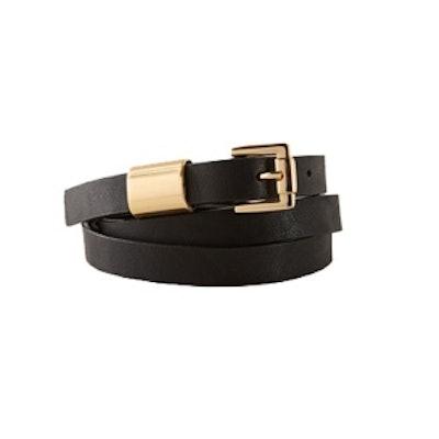 Metal Accent Skinny Belt
