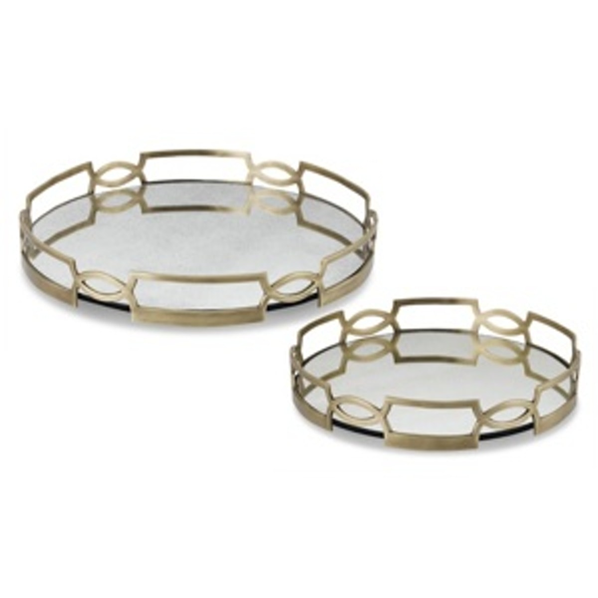 Antique Mirrored Trays