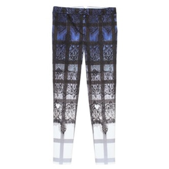 Lace Plaid Ombre Skinny Pants