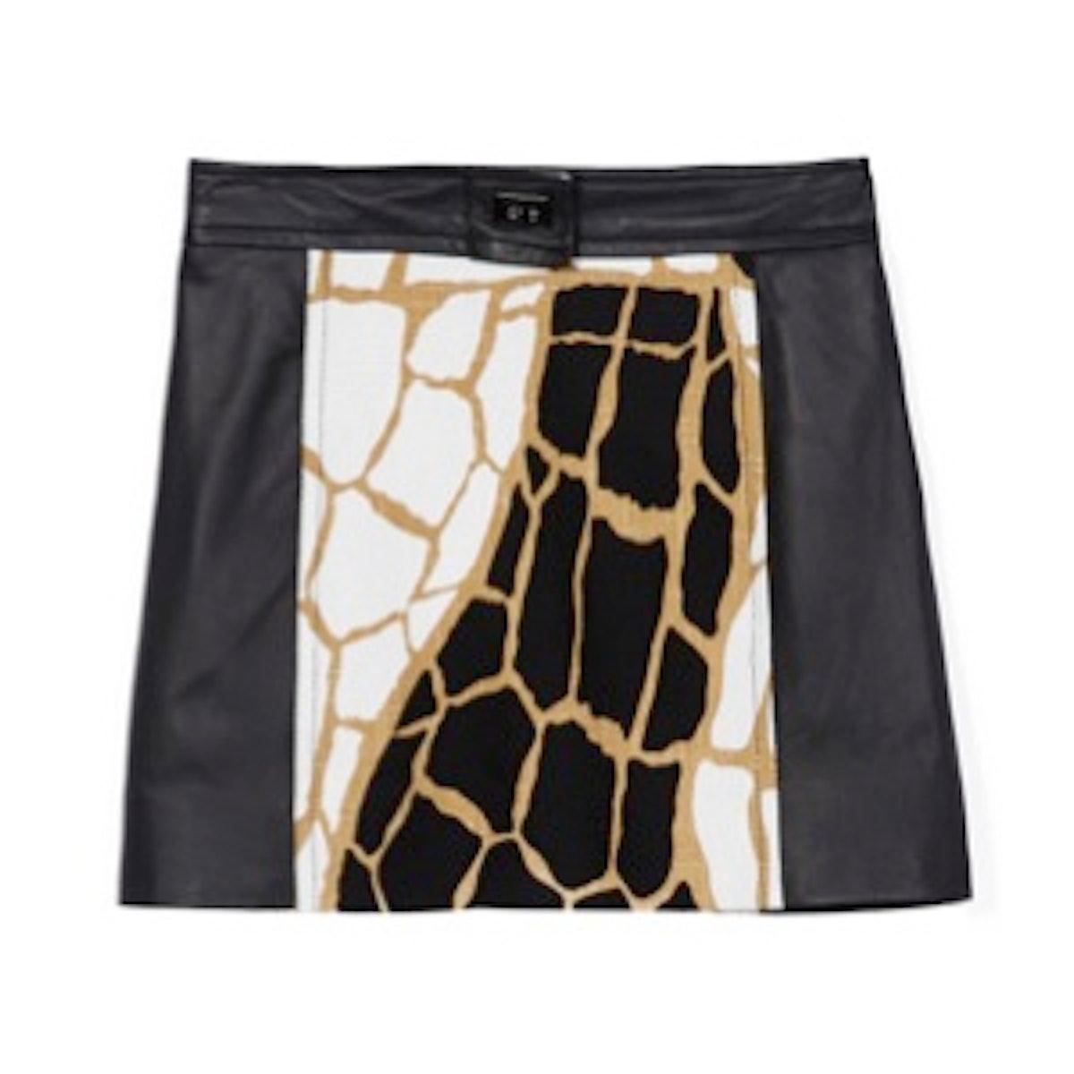 Shane Giraffe Print Miniskirt
