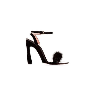 Mink And Velvet Sandals