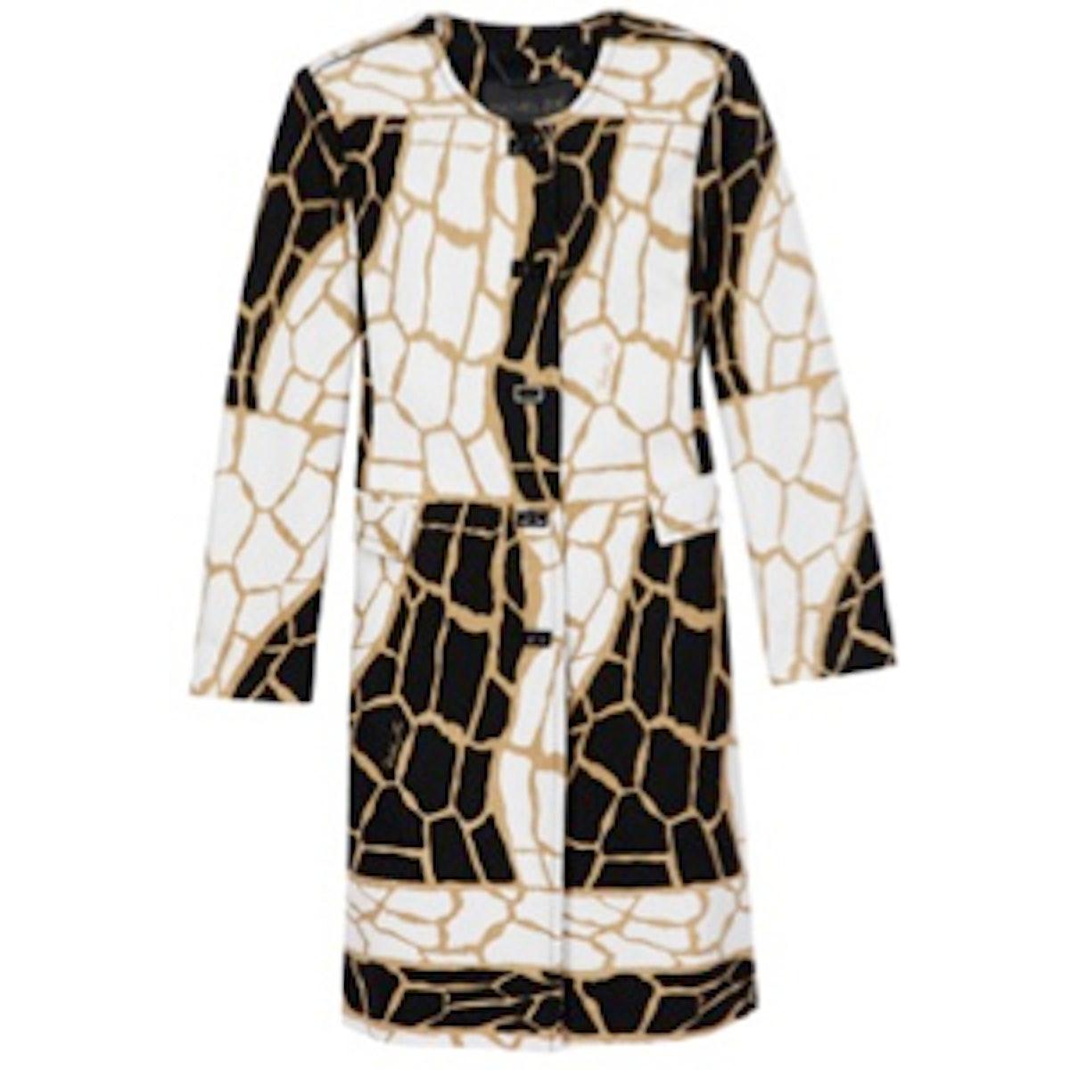 Mena Giraffe Print Coat