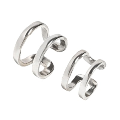 Silver Double Cage Ring